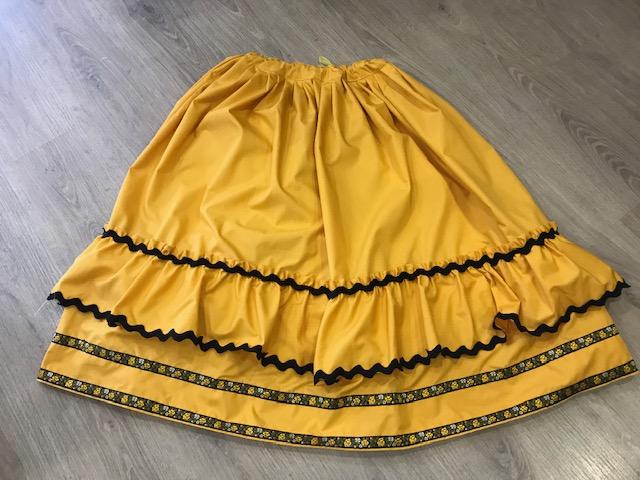 Zagalejo amarillo de señora