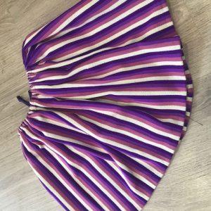 Refajo listas bebe lila confeccionado en lana acrílica con un colorido precioso