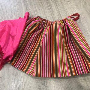 Refajo listas bebe de listas en multicolor para conjuntar con delantal de huertana y pico huertano de colores
