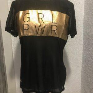 Camiseta gasa elástica para mujer semitransparente muy cómoda y transpirable