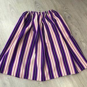 Refajo listas bebe lila confeccionado en lana acrílica con un colorido