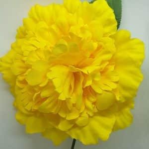 Flor flamenca estilo clavel grande en colores para colocar en el pelo