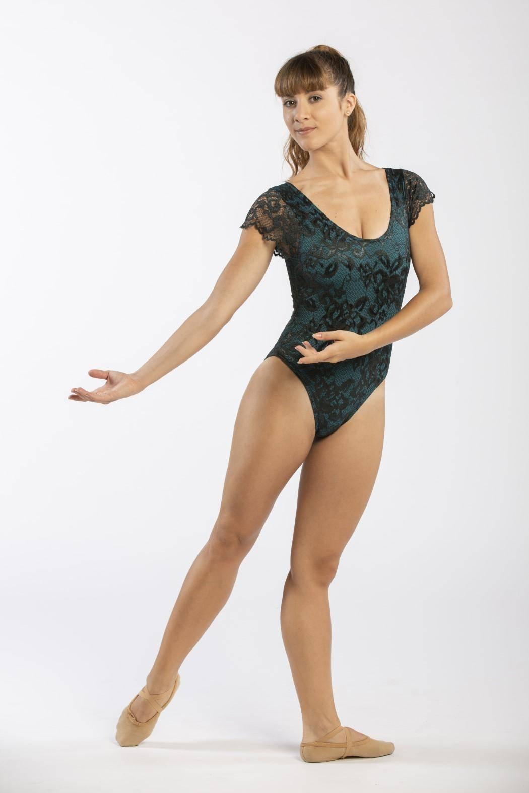 Maillot ballet verde Davedans 3938
