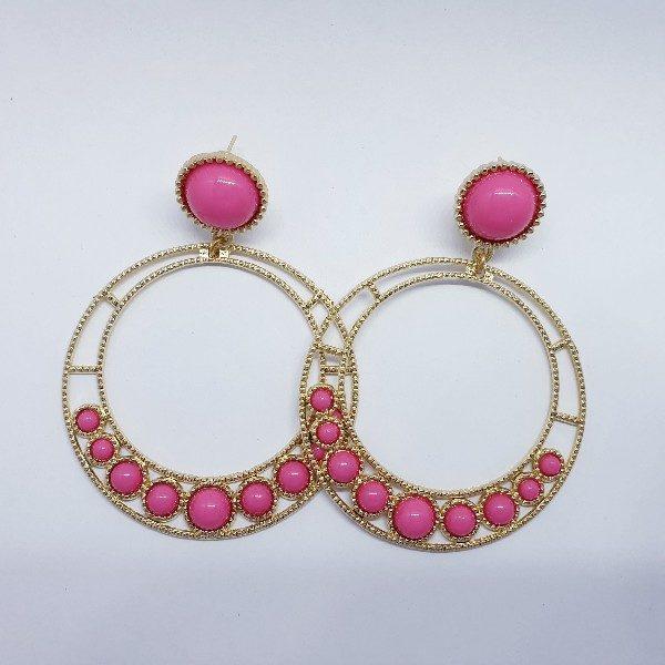 Pendientes de flamenca en aro y bolitas de colores muy original y ligero, un complemento que no puede faltar con tu indumentaria flamenca