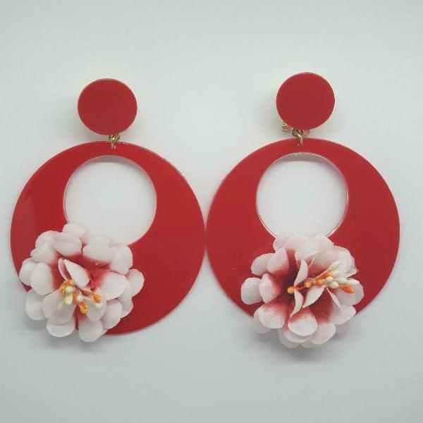 Pendientes de flamenca rojos 979