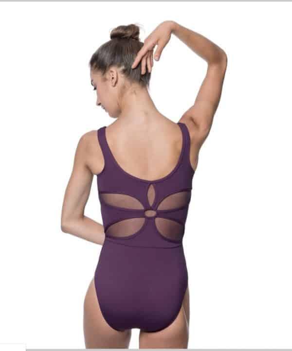 Maillot ballet color berenjena de la marca Lulli Dancewear