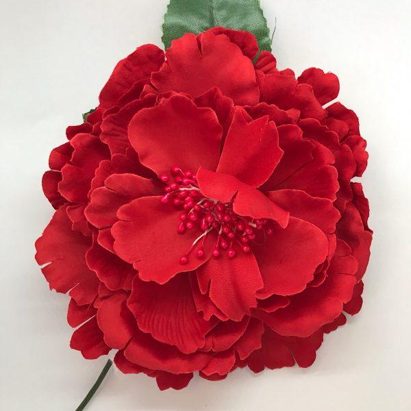 Flor flamenca grande con pistilos del mismo color en el centro