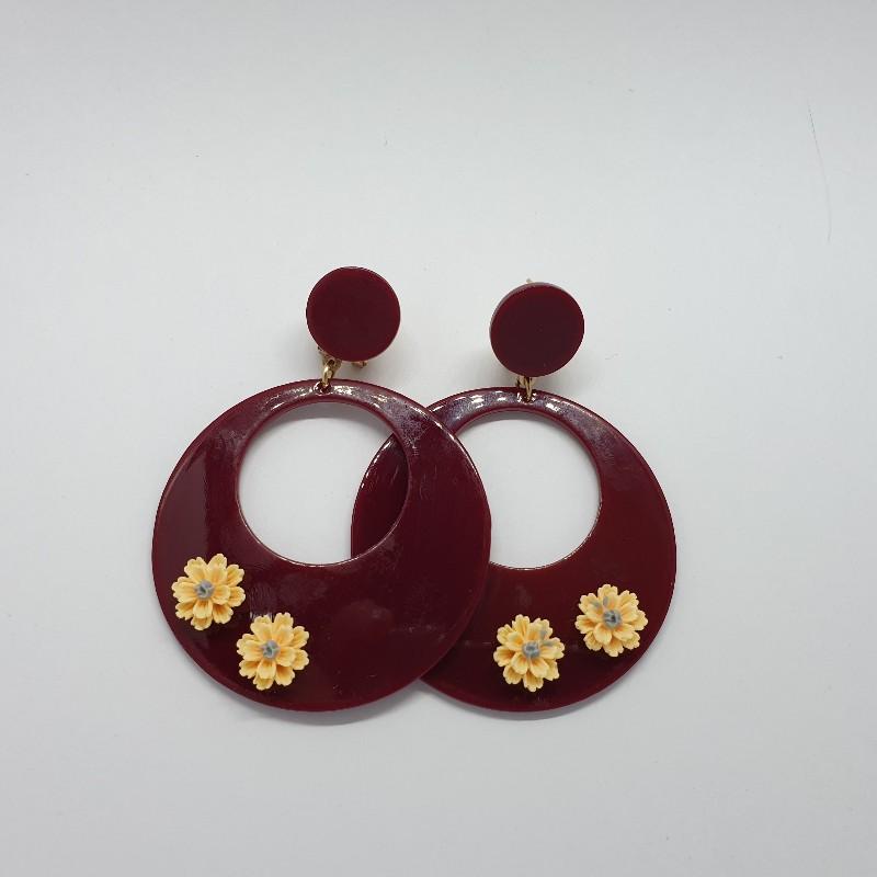 Aros de flamenca con florecillas 978
