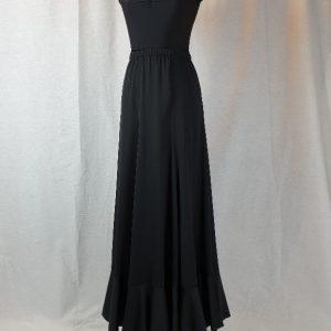 Falda de ensayo volante en color negro para bailar