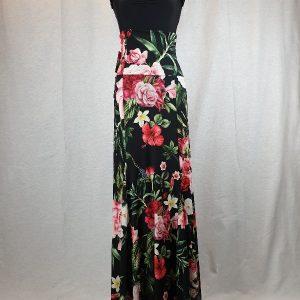 Falda flamenca estampada con godets y cinturilla alta
