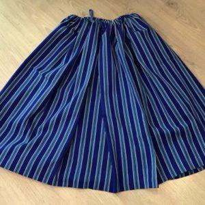 Refajo de listas azul para señora para combinar con el pico y delantal de color
