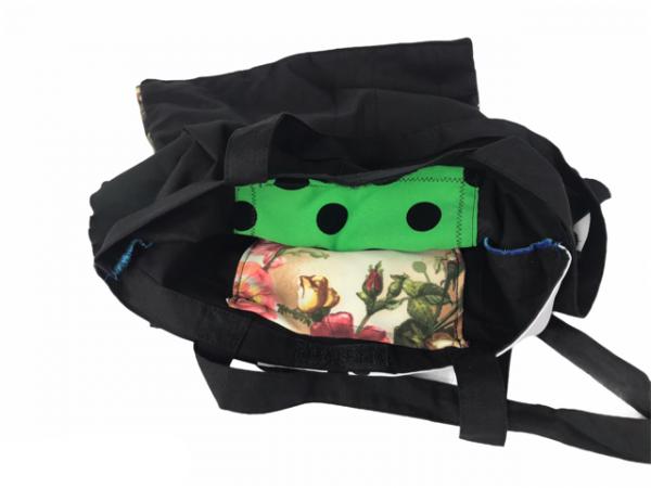 Bolso de feria para flamenca con bonitos volantes combinados entre s