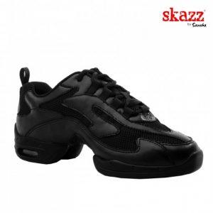 Sneakers con cámara de aire y suela dividida en piel