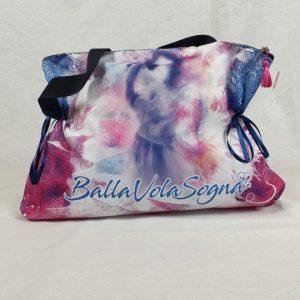 Bolsa ballet en colores con bonito grabado de bailarina