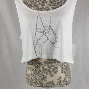 Camiseta de baile zapatillas de ballet de tirante ancho muy cómoda