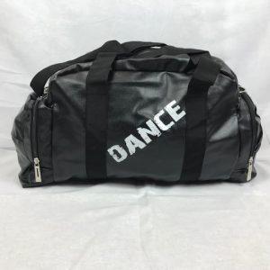 Macuto de danza polipiel de color negro y grandes bolsillos para llevar todo lo que necesites a tus clases de baile