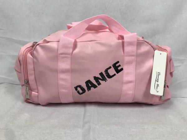 Macuto ballet niña rosa de polipiel con varios bolsillos para llevar todo lo que necesites a tus clases de baile