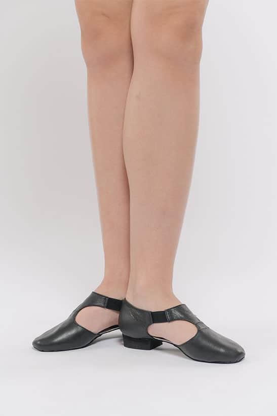 Zapatos de maestra Dansez-Vous fabricados en piel de cuero negro