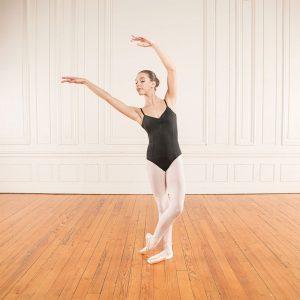 Maillot negro Dansez-Vous de tirante fino y fruncido en el pecho