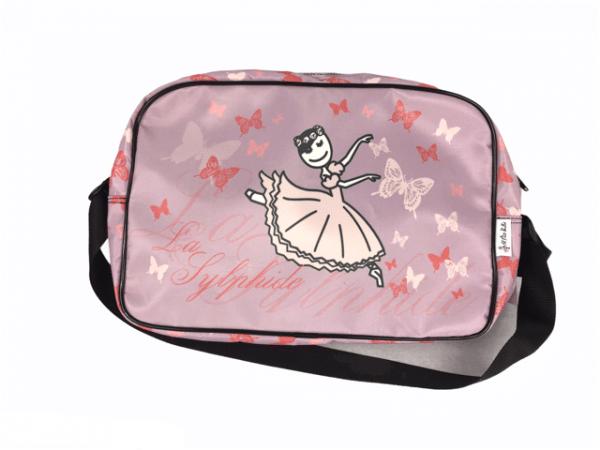 Bolsa ballet niña El Pettit Ballet con estampaciones de ballet que te servirá para guardar tu vestuario de danza