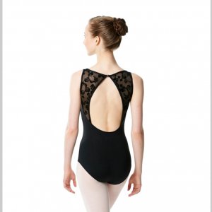 Maillot ballet mujer negro
