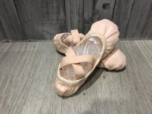Zapatillas de ballet Happy Dance modelo 28 con gomita en el puente y licra