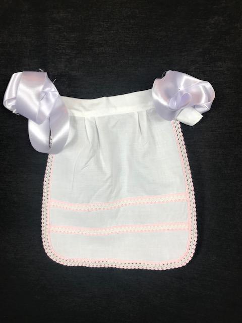 Delantal blanco bebe para huertana