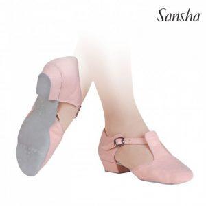 Zapatos de baile negros maestra fabricados en tela de la marca Sansha
