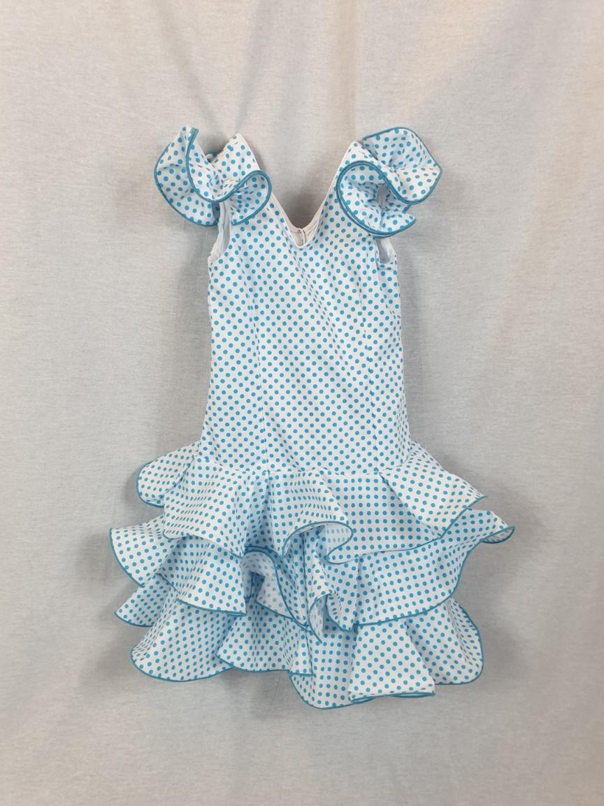 Traje de flamenca niña azul 289