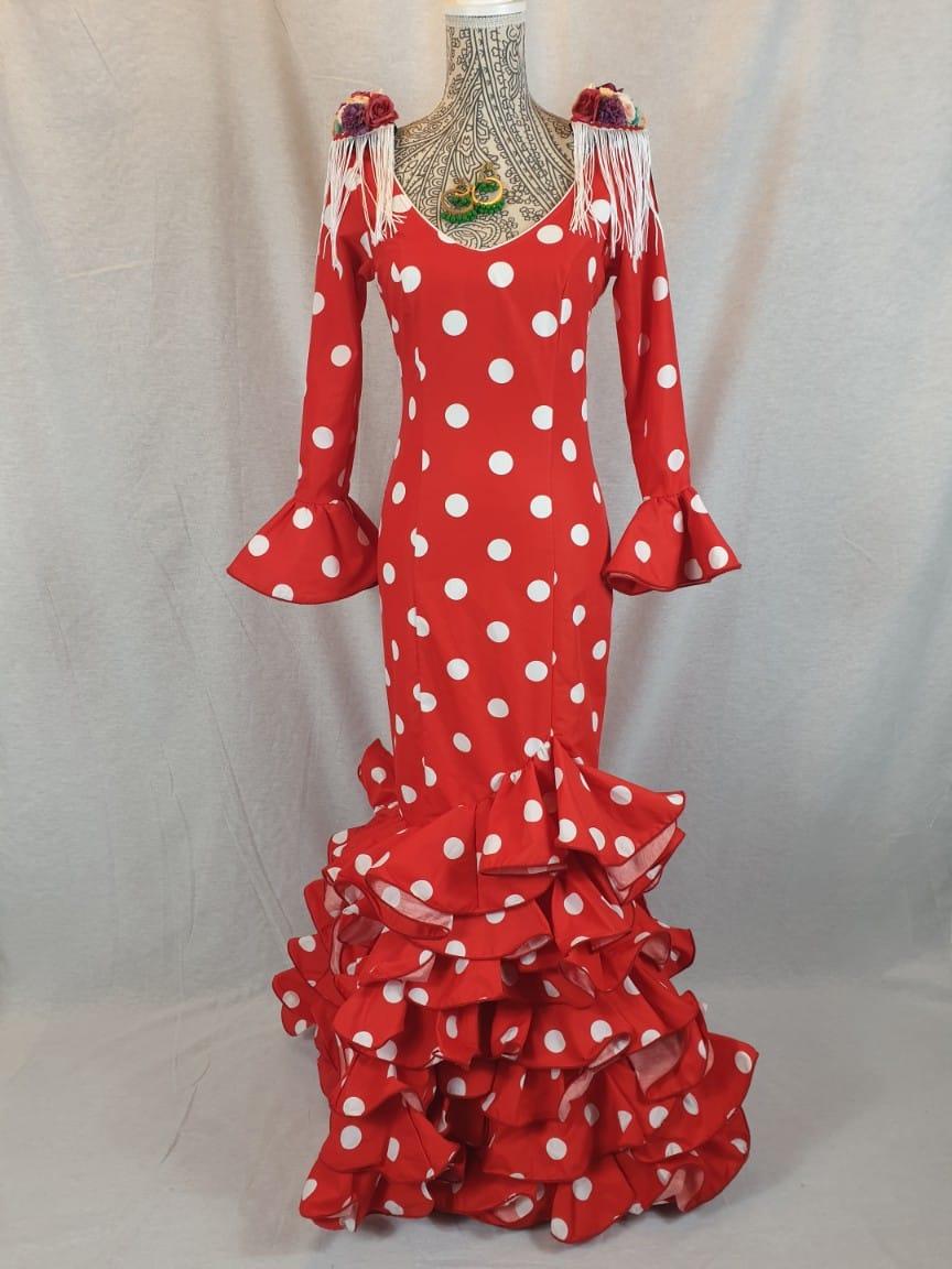 Traje de flamenca rojo 310