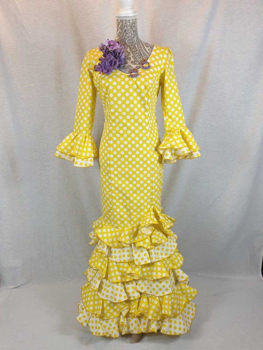 Traje de flamenca amarillo con lunares 319
