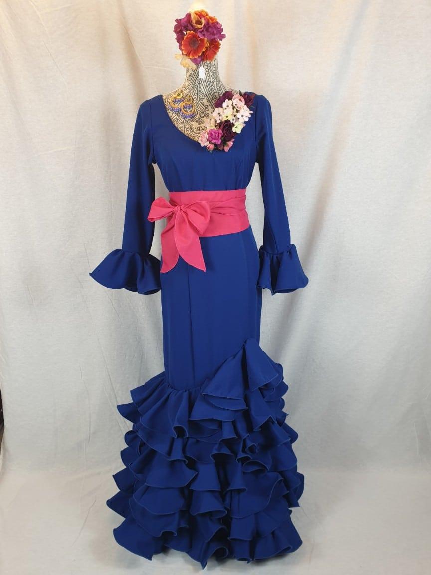 Tarje de flamenca azulón 327