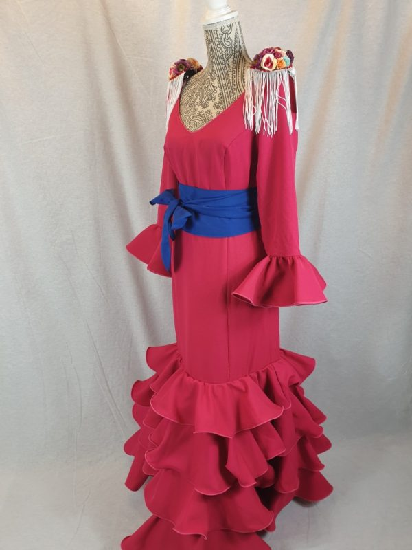 Vestido de flamenca fucsia