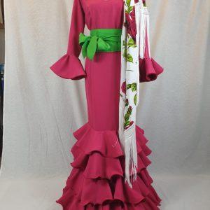 Traje de flamenca color fresa de streck