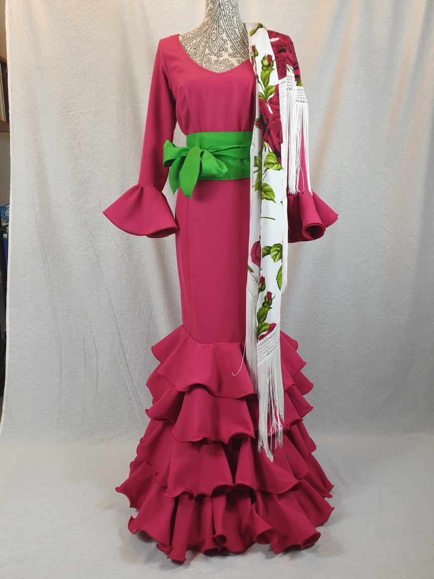 Traje de flamenca color fresa 337