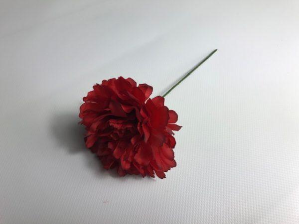 Clavel huertano en color rojo o blanco para el pelo