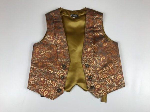 Chaleco para huertano en colores dorados y marrones brocado