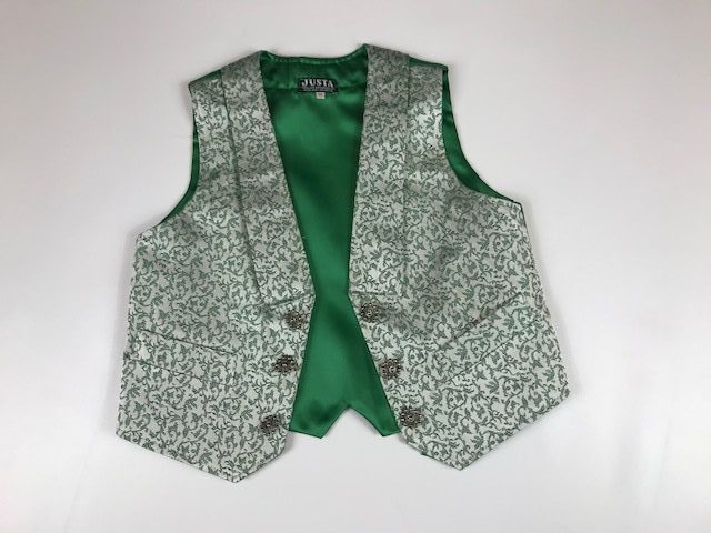 Chaleco de huertano verde blanco 611