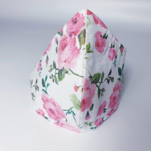 Mascarilla higiénica con flores para adulto y filtro desechable