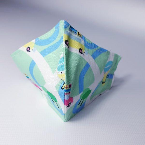 Mascarilla niños globos de tela lavable y reutilizable