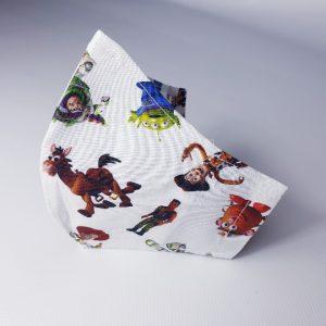 Mascarilla Toy Story con doble tela para colocar filtro incluido