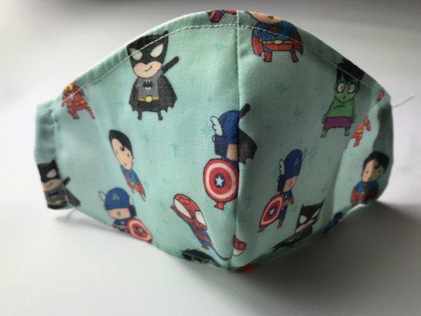Mascarilla higiénica superheroe con todos los personajes Marvel que mas te gustan