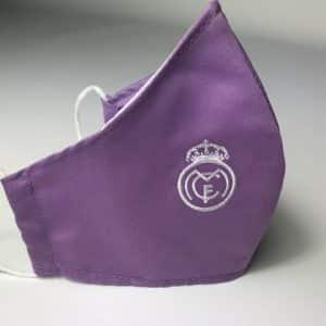 Mascarilla equipación Madrid de tela con doble tejido para colocar filtro incluido