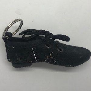Llavero zapatillas jazz en negro con cordones
