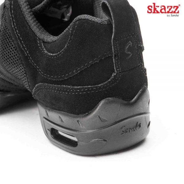 Sneakers negro de Sansha para hombre y mujer de piel