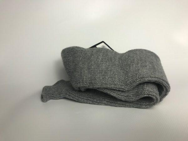 Calentador ballet gris adulto con forma tubular para usar en piernas o brazos