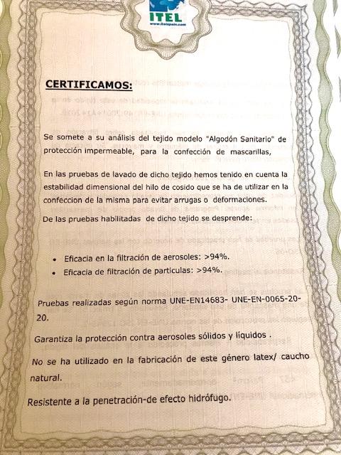 Certificado UNE-EN-0065-20-20