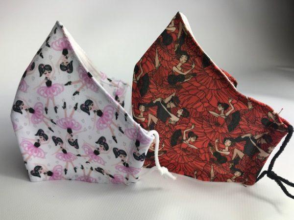 Mascarilla flamenca roja homologada y certificada
