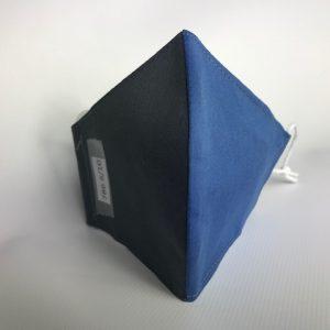 Mascarilla colegial gris con dos colores azul y gris con certificado