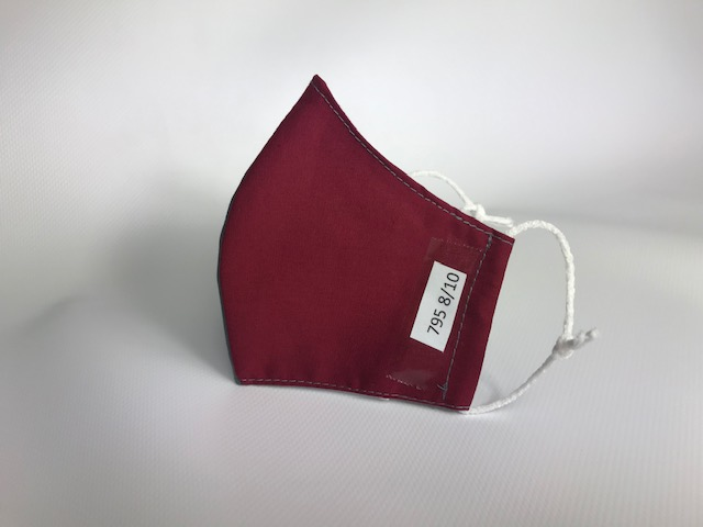 Mascarilla granate/gris para uniforme homologada 795